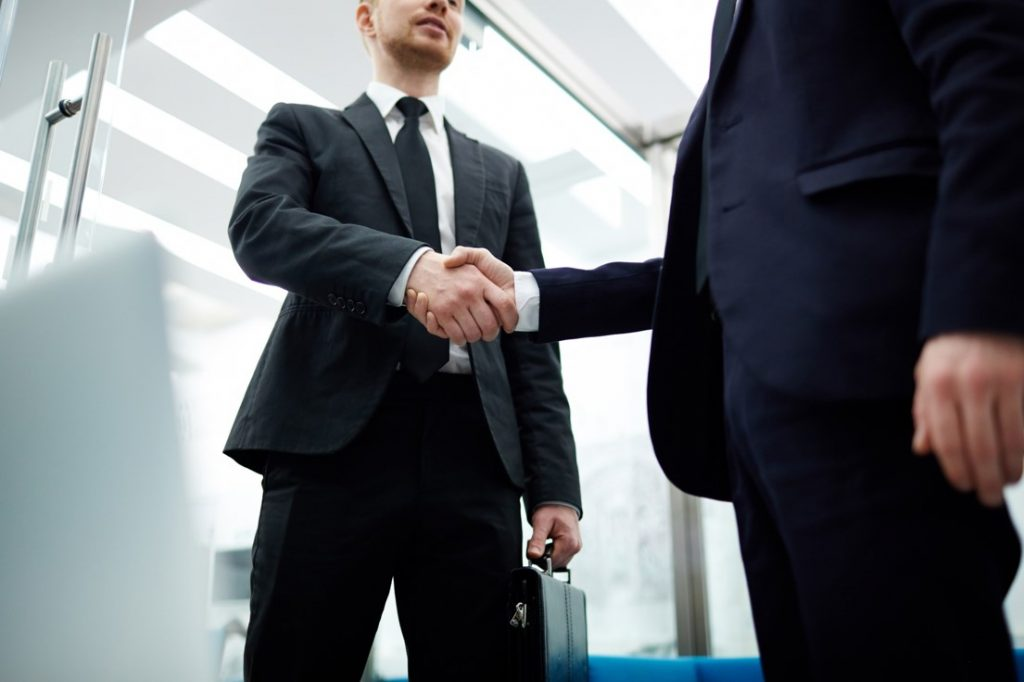 Decorative - Men shaking hands
